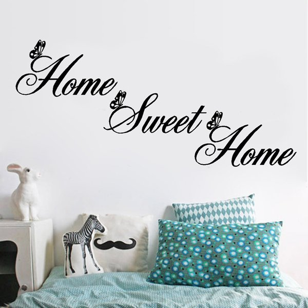 Home Sweet Home Wall Decor.Home Sweet Home Wall Stickers Creative Diy Removable Letter Wall Decals Art Decor For Living Room Bedroom Wallpaper Decor Chandelier Wall Decal Cheap