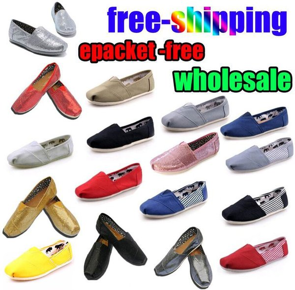 Free gift Wholesale Brand Fashion Women Solid sequins Flats Shoes Sneakers Women and Men Canvas Shoes loafers casual shoes Espadrilles
