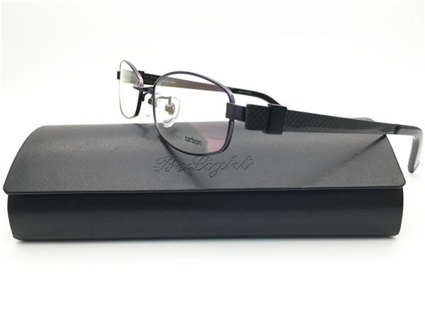 Occhiale da vista in titanio con montatura in fibra di carbonio e occhiali da vista da uomo