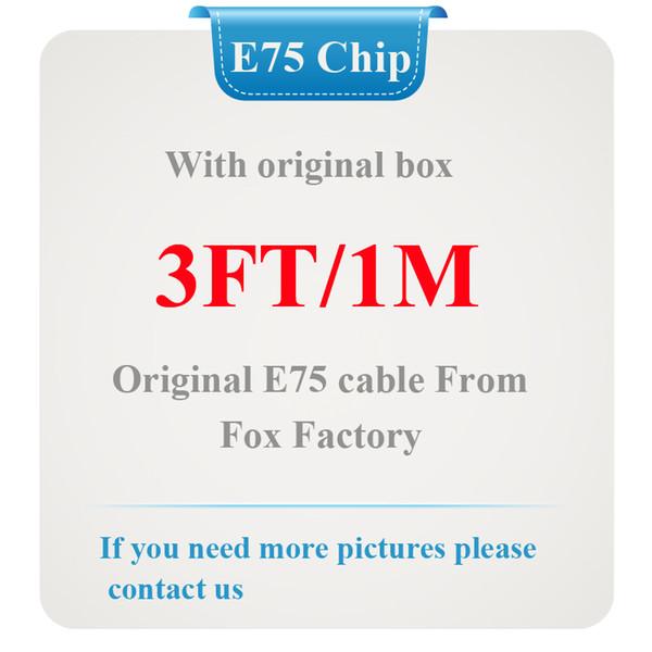 100% Genuine Original 1 m / 3ft E75 Chip OD: 3.0mm Cabo de Dados de carregador USB para 5 6 6 s 7 Plus com caixa de varejo, 10 Pçs / lote