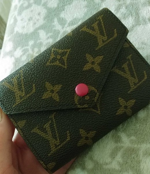 Whole ale clemence original box real leather multicolor coin pur e date code hort wallet card holder cla ic zipper pocket, Red;black
