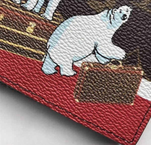 2017 Christmas new women's purse high quality canvas bag Polar bear print luxury bags. Distribute the latest brand box Free shipping