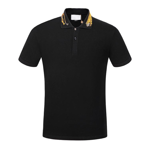 2019 Summer Designer T Shirts For Men Tops Tiger Embroidery Poloshirt Mens Snake Brand Short Sleeve Tshirt Women Tops Size M-3XL