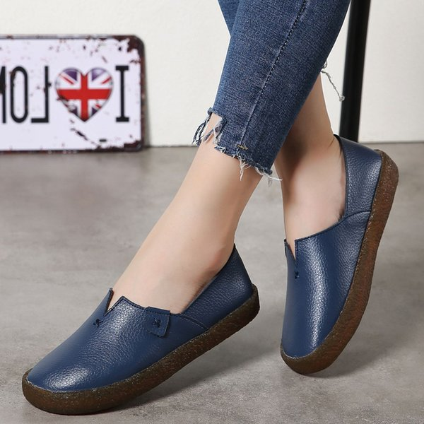 2018 Ballet Summer Cut Out Women Genuine Leather Shoes Woman Flat Flexible Round Toe Nurse Loafer Running Sports Shoe Sneakers