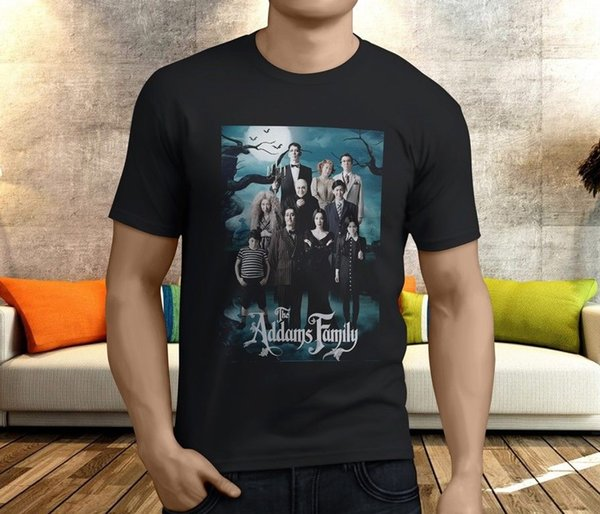New Cool The Addams Family Men Black T Shirt S - 3xl Streetwear Ropa con estampado divertido Hip - Tope Mans T Shirt Tops Tees