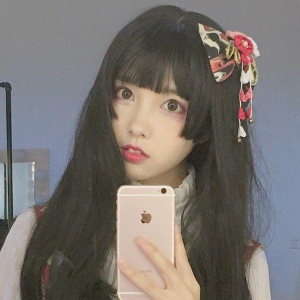 Großhandel Koreanische Modelle Gao Wensi Mädchen Student Cos Frau Frisur Atmosphäre Fringe Lange Glatte Haare Perücke Headgearby Haif Von Shangpa