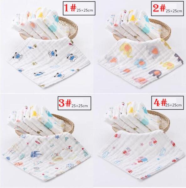 Baby 6-Lagen-Lätzchen Handtuch Baumwolle weiches Handtuch Kleinkind Mittagessen Lätzchen Spuckt Kleidung für 8 verschiedene Arten