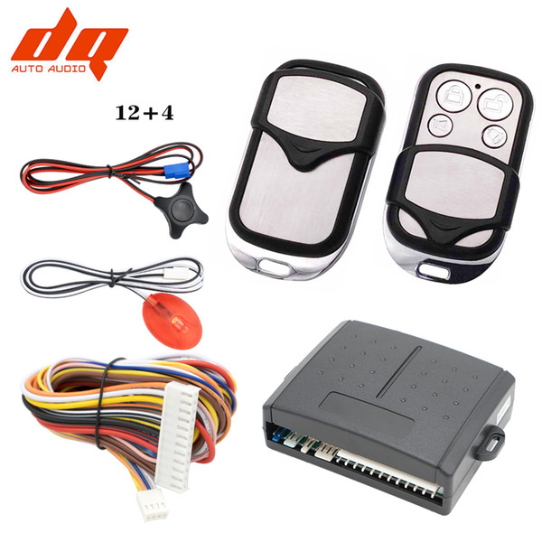 Quality 12+4 Auto Door Lock Vehicle Keyless Entry System Auto Car Remote Central Kit Anti-theft System Car Alarm Engine for VW
