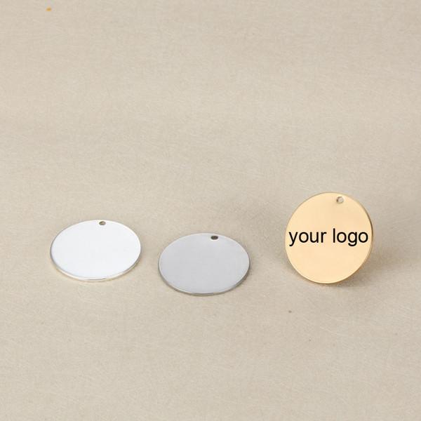 Выгравированный лазерный браслет из нержавеющей стали Charm-25mm с логотипом