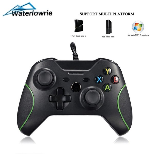 Waterlowrie USB Wired Game Controller For Microsoft Xbox One / S / X Gamepad Controle For XboxOne Slim PC Windows Joystick Black