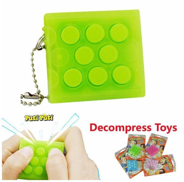 top popular Reduced decompression squeezed bubble toy to press the bubble to stabilize the vent to restrain the anxiety keychain JYWJ001 2020
