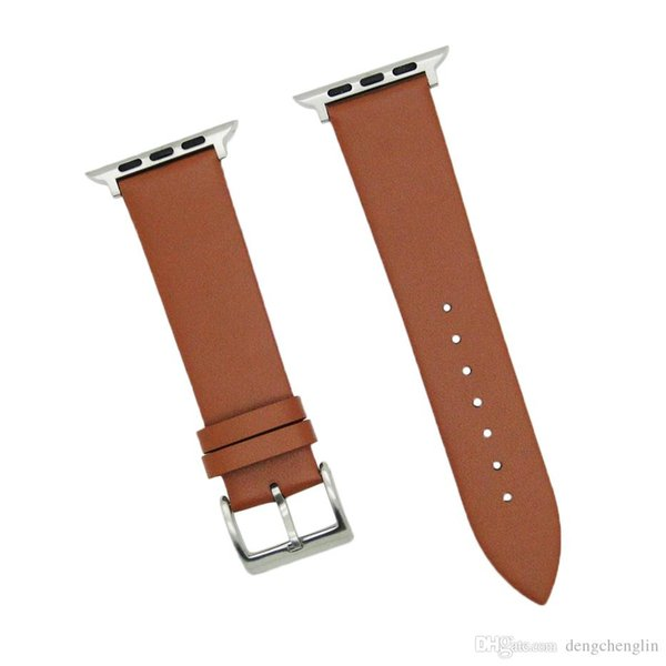 Smart Watch Band, 38mm/42mm Leather Strap Replacement Strap with Stainless Steel Metal Clasp, for Apple Watch3/2/1 Free Shipping