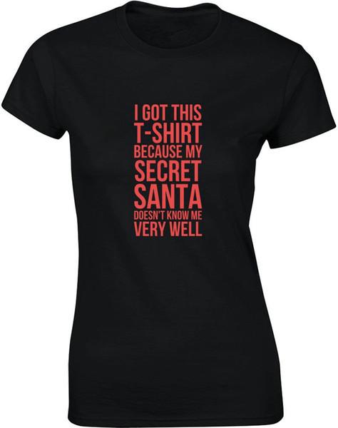 Camiseta casual de verano Good Quality My Secret Santa O-cuello manga corta mejor amigo camisas para mujeres
