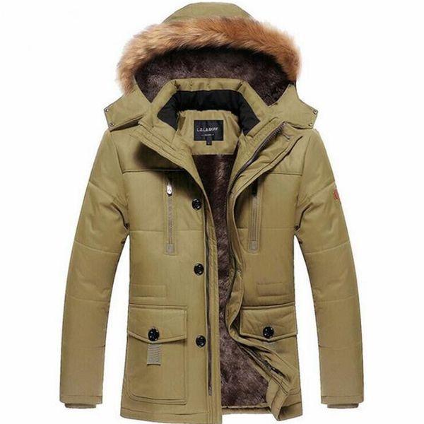 Envío gratis 2018 NUEVOS hombres de la chaqueta de esquí de los hombres, térmico Cottom- Padded Snowboard a prueba de viento, collar de lana, chaqueta de los hombres extranjeros