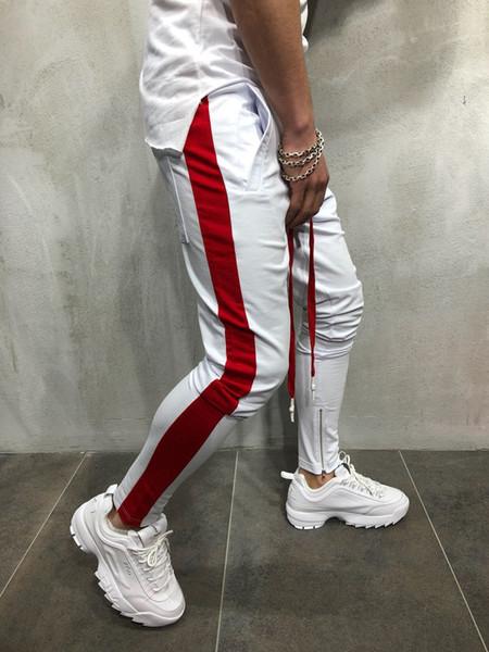 Mens Hiphop Dancing Street Jogger Pantalones Pantlones Moda Lápiz Cremallera Pantalones de diseñador Pantalón deportivo Ropa deportiva