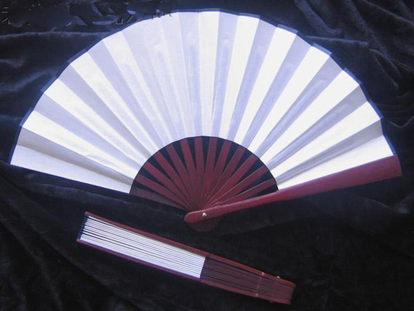 Plain White Hand Fans Large Chinese Silk Folding Fan DIY Wedding Fans Personalized Adult Fine Art Painting Program 1pcs