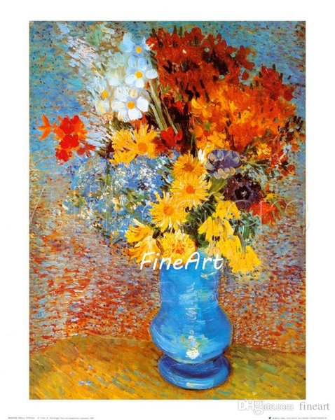 handpainted van gogh famous painting flower art oil painting wall art picture wholesale home decoration unique gifts Kungfu Art
