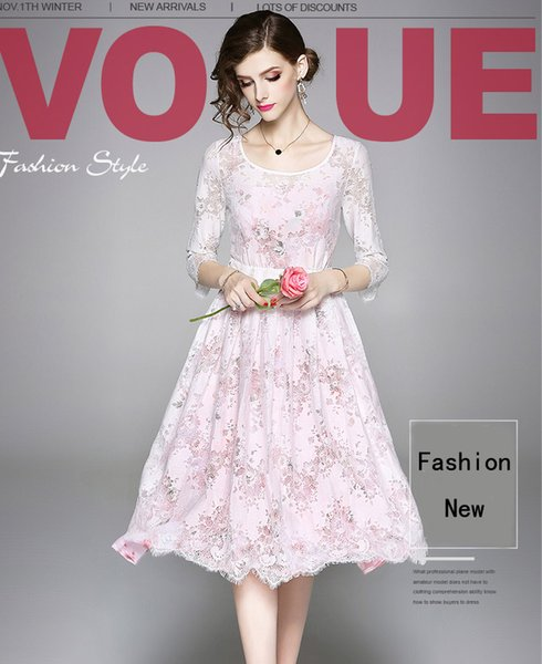 Nice Chiffon Materials Panelled Lace Dressestwo Piece Setssummer And Autumn Lady Fashion Elegant Dress Dressing Style For Women Dressing Styles For