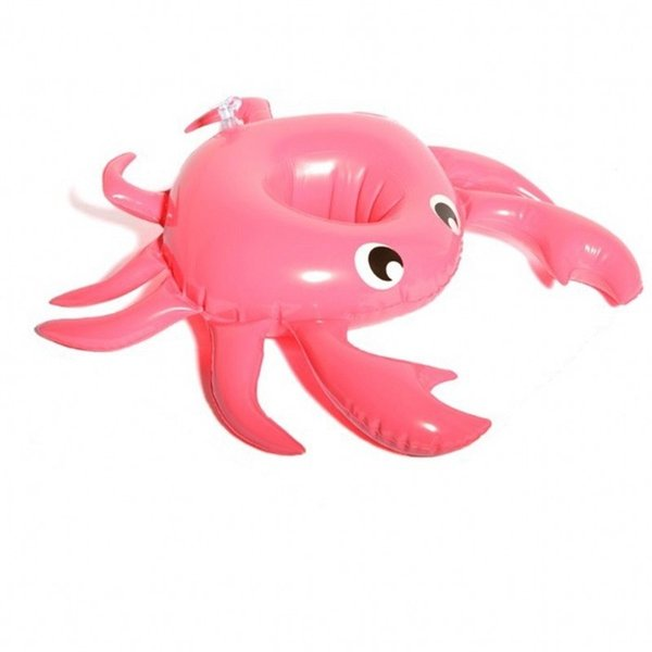 Lovely Crab Cup Holder Inflatable Drink Coaster Swimming Pool Supplies Portable Cups Mat Water Toy High Quality 2 4tt WW