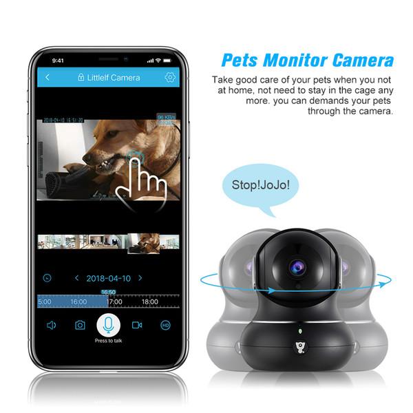 Moniteur de caméra de sécurité sans fil caméra IP 1080p avec moniteur de navigation panoramique 3D Détection de mouvement de sécurité à domicile