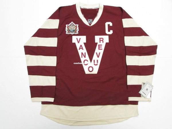 Cheap custom HENRIK SEDIN VANCOUVER CANUCKS 2014 HERITAGE CLASSIC PREMIER JERSEY stitch add any number any name Mens Hockey Jersey XS-5XL