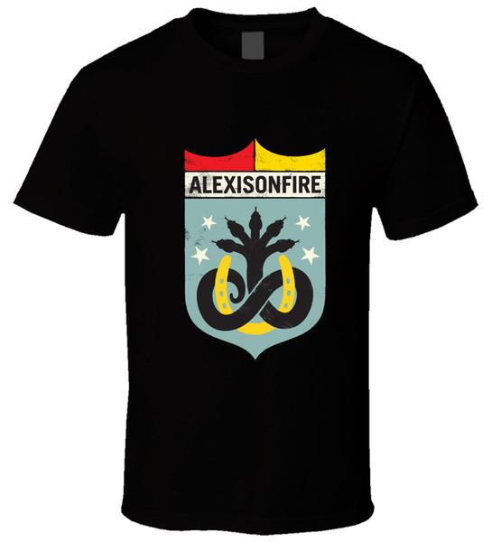ALEXISONFIRE 1 Erkekler T Gömlek Yaz Tarzı Erkek T-Shirt Kısa Kollu Marka Yuvarlak Yaka Kısa Kollu Tee Gömlek üst tee