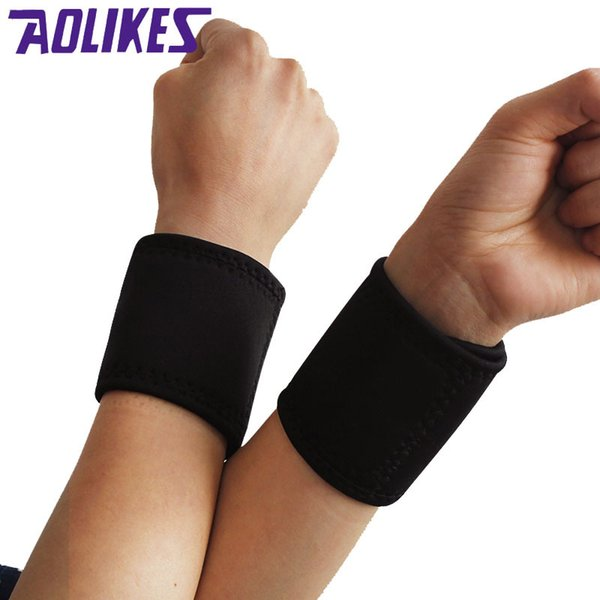 AOLIKES 2 Pairs Tourmaline Magnet Wrist Straps Wraps Self-heating Wristbands Keeping Warm Products Sports Safety Health Care Y1892612