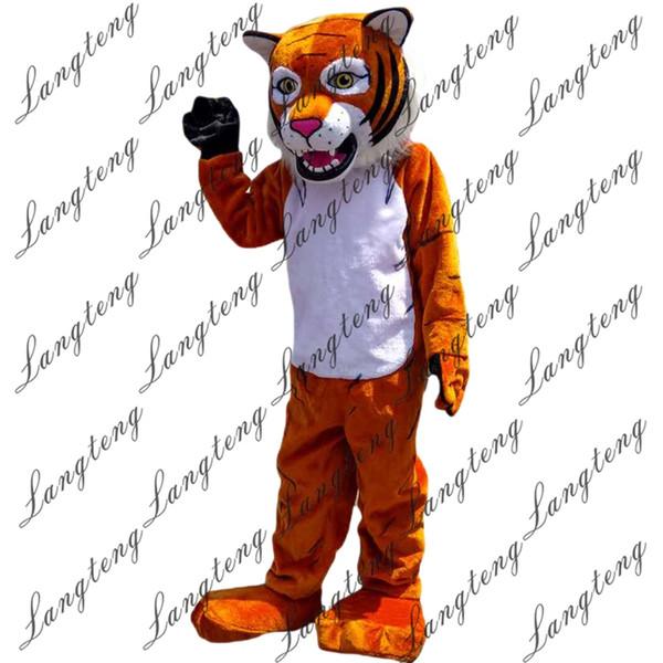2018 neue hochwertige Orange Tiger Maskottchen Kostüme für Erwachsene Zirkus Weihnachten Halloween Outfit Kostüm Anzug Freies Shipping023