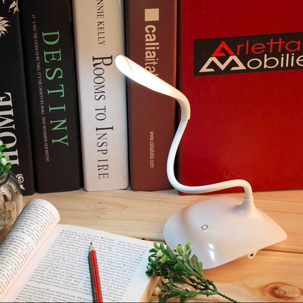 1 unids Ajustable Luz de Lectura LED Caliente en todo el Mundo USB Recargable Sensor Táctil Lámpara de Mesa de Escritorio