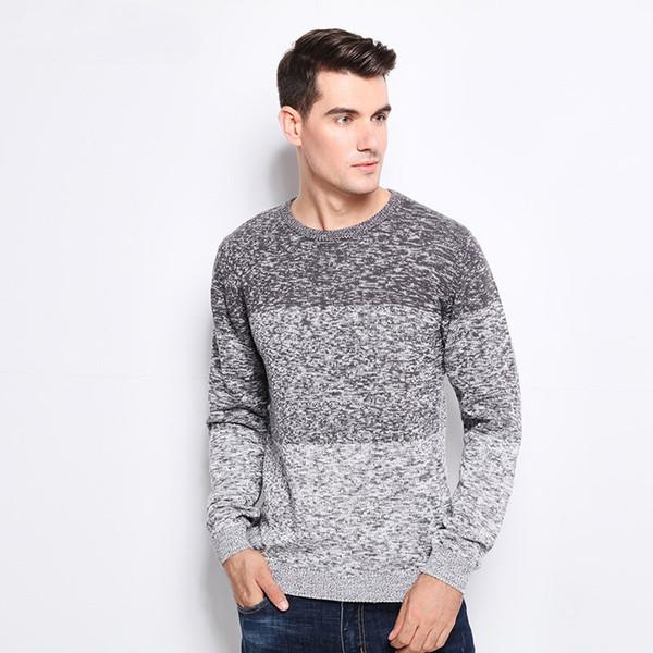 Neue Herbst Winter Marke Kleidung Pullover Männer Fashion Trend O-Ausschnitt Slim Fit Winter Pullover Männer 100% Baumwolle Strickpullover Männer