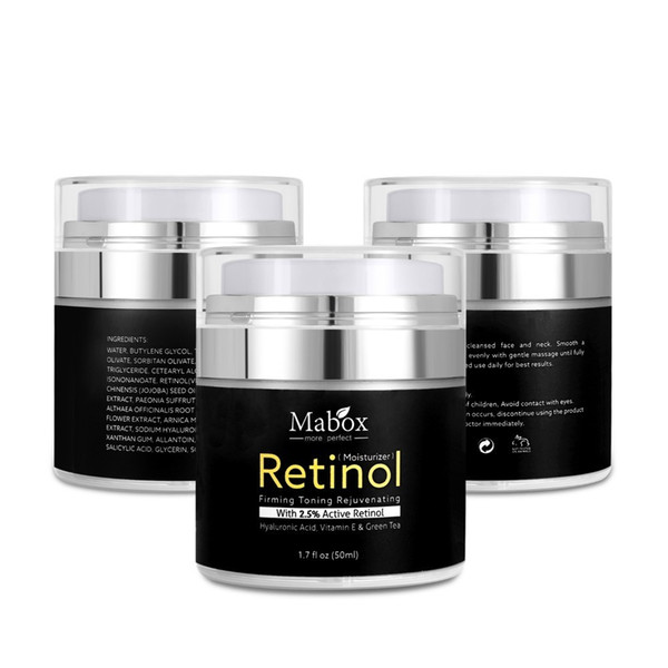 Retinol Serum 2.5 Anti Aging Day and Night Moisturizing Cream for Face and Eyes Hyaluronic Acid Vitamin E and Green Tea Drop Ship