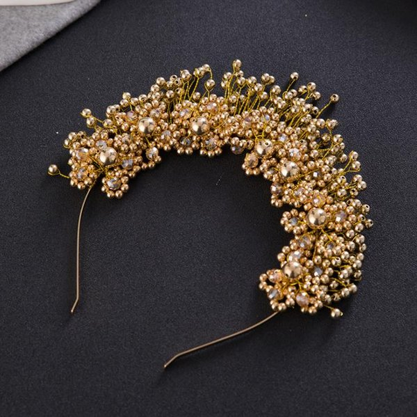 Bridal hair ornaments, pearl hair bands, pink heads, wedding accessories, flower wedding accessories.