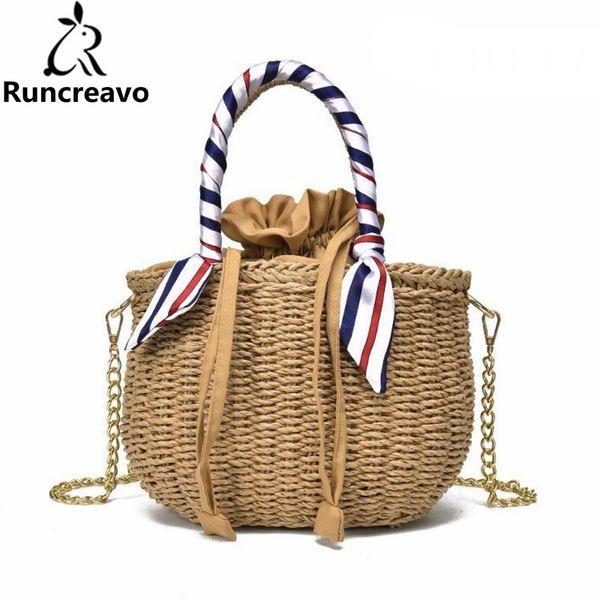 2018 Crossbody Bags For Women Leather Handbags Luxury Handbags Women Bags Designer Ribbon Beach Messenger Tote Bag Sac A Main