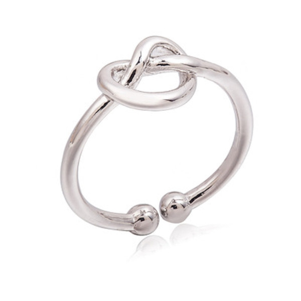 best selling Infinity Knot Ring Simple Knuckle Heart Knot Open Rings For Women Girl Wedding Engagement Jewelry Gift Wholesale