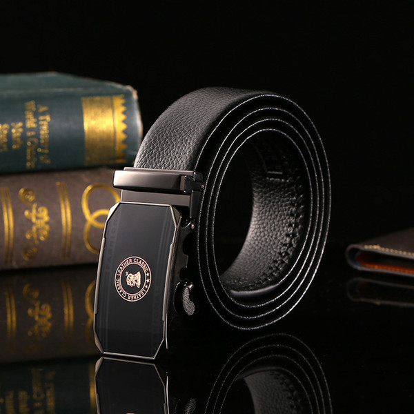 New fashion men's belt casual business middle-aged man automatic buckle waistband cowhide belt wholesale
