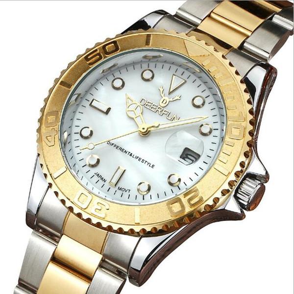 Heiße Marken-Luxusuhr-Unterwasserkalender-Yacht-Wasser-Geist-Mann-Uhr-Art- und Weisegeschäft-Edelstahl-Quarz-wasserdichte automatische Uhr