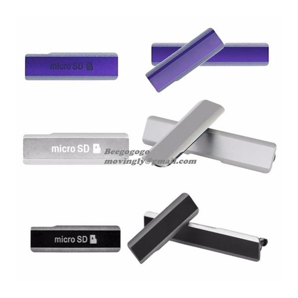 Z1 L39 Micro SD USB Charging Port Slot DustProof Cover For Sony Xperia Z1 L39h Honami C6902 C6903 Dust Plug SIM Card Case Bumper Dropship