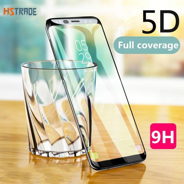 5d curvo cobertura completa de vidro temperado para galaxy s9 s8 mais s7 edge filme protetor de tela para a nota 8 a8 2018 vidro