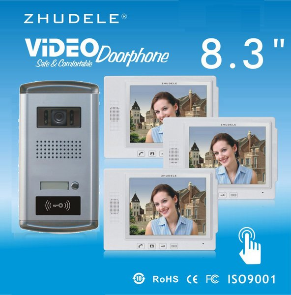 ZHUDELE Security Intercom system 8.3