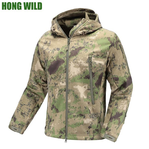 Military Tactical Jacket Lurker Shark Skin Soft Shell men Windbreaker Army Camouflage Waterproof Hooded Camo Hunt Clothes S1015