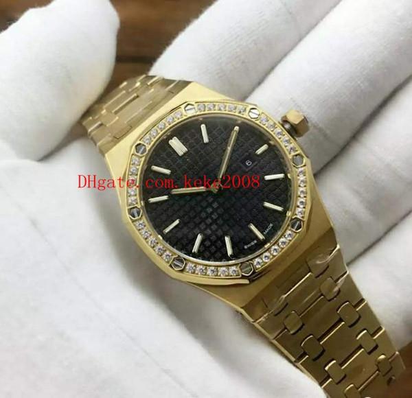 5style Luxury Wristwatches N8 factory Oak Offshore 15400 33mm 67651BA.ZZ.1261BA.01 18k Rose Gold VK Quartz Chronograph Ladies Womens Watches