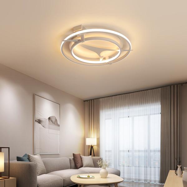 En Techo Techos Compre Para Dormitorio De Lámpara LED Sala Estar 265V Para Luces Techo El Aluminio De AC85 De Iluminación Hogar Moden Chandelierrec GzLMVpUqS