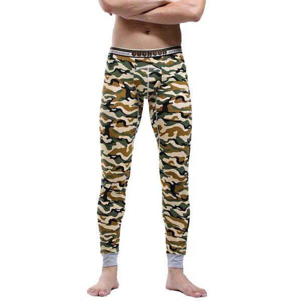 2017 Winter Warm Men Cotton Camouflage Leggings Tight Men Long Johns Plus Size Warm Underwear Man Thermal Underwear 6 Colors