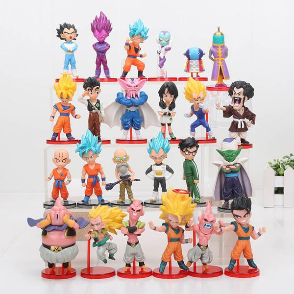 6pcs/lot Dragon Ball DBZ Anime Goku Vegeta Piccolo Gohan super saiyan zenoh dragon ball z action figures Toy