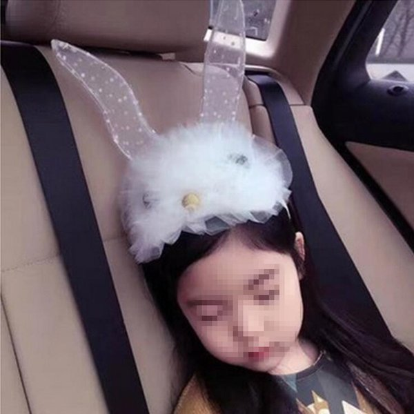 Lace Bunny Ear Headband Chidren Girls Princess Rabbit Ears Headwear Hair Band Birthday Party Favor Gift