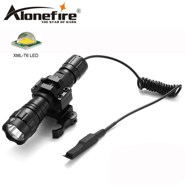 AloneFire 501Bs Tactical LED Flashlight CREE XM-L T6 White lights Light Portable Torch For Hunting lamp