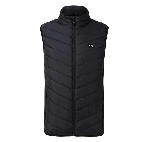 New Men Hiking Electric Heated Vest Heating Waistcoat Thermal Warm Clothing Feather Hot Sale Winter Jacket