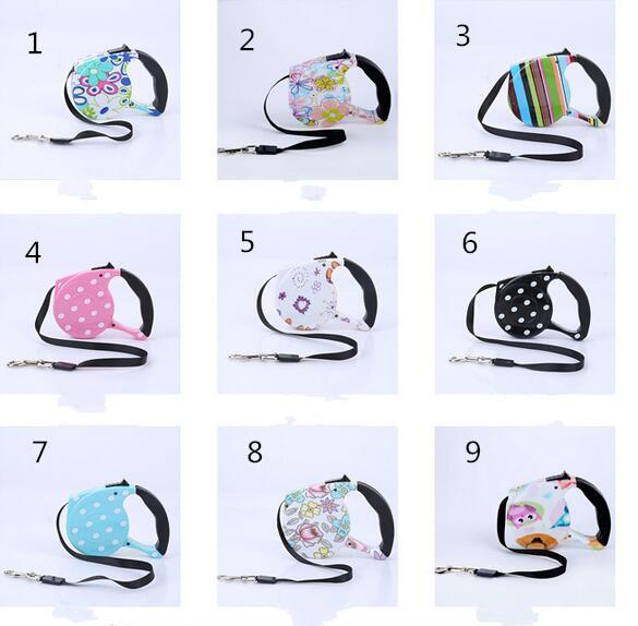 New Dog Collars & Leashes Pet Supplies Dog Collar Leash Automatic Retractable Leash Harness Puppy Patrol Rope Walking Cat Traction
