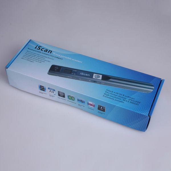 Nueva llegada escáner portátil 900DPI JPG y PDF formate A4 escáner de libros Iscan mini escáner de documentos portátil de alta calidad