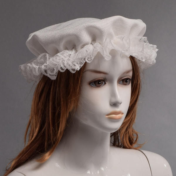 1pc Women Kangaroo's Victorian Mother Beanie Lady White Vintage Retro Cap Colonial Mob Hat Fast Shipment